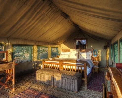 Tent interior - Camp Xakanaka